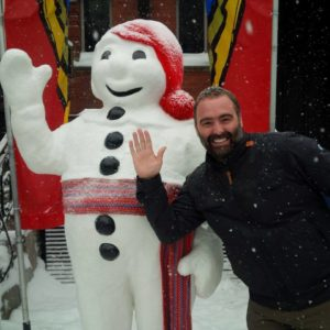 Steeve Gaudreault during a guided tour at Carnaval de Québec