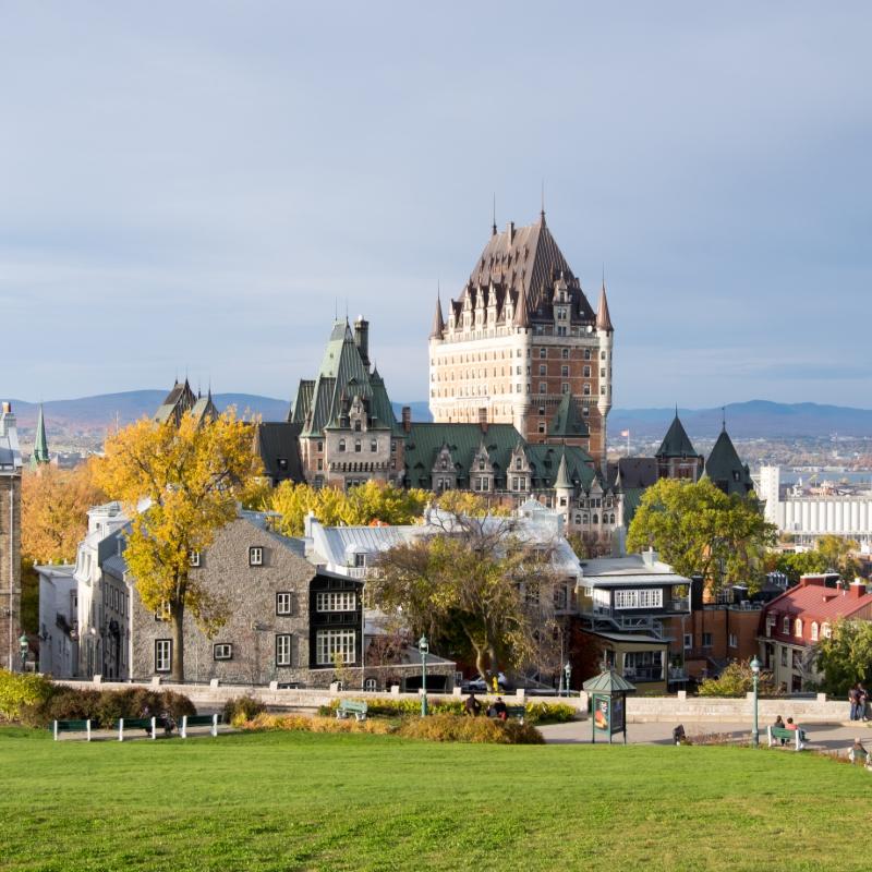 Old Quebec City from Terrasse Pierre-Dugua-de-mons