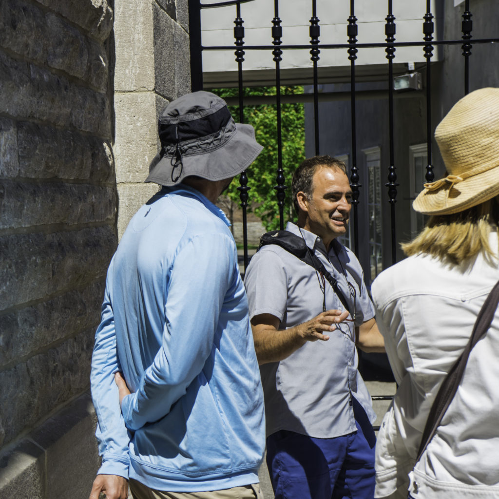 Steeve Gaudeault giving a tour in Old Quebec City